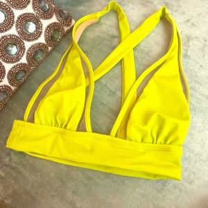 ASOS Swim - ASOS Neon Yellow Bikini Top